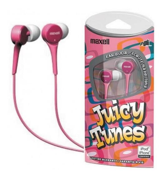 Audifonos Maxell Juicy Tunes Rosado