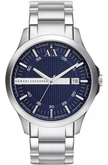 Relógio Ez1927 Armani Exchange Ax2132 46mm Prata / Caixa