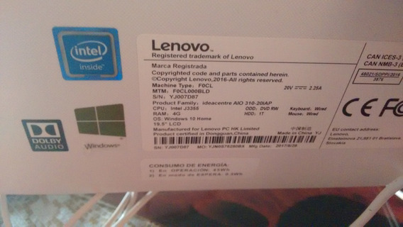Lenovo In One Ideacentre J3355