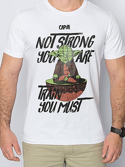 Camiseta Capote Algodão Yoda Yoga