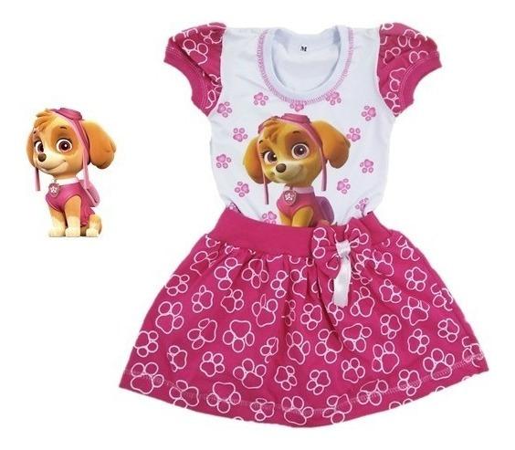 Vestido Infantil Skye Patrulha Canina - Roupa/fantasia