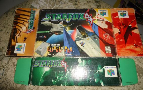 Encarte Capa Star Fox 64 Original - Nintendo 64