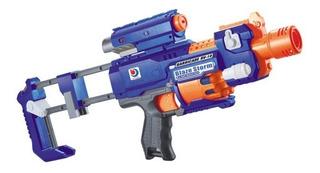 Pistola Ametralladora Lanza Dardos Soft Gun Con Laser