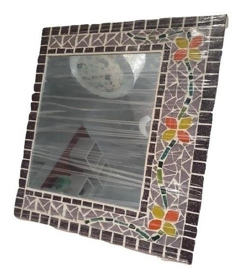 Cuadro Espejo De Pared Rectangular Venecitas Mosaiquismo