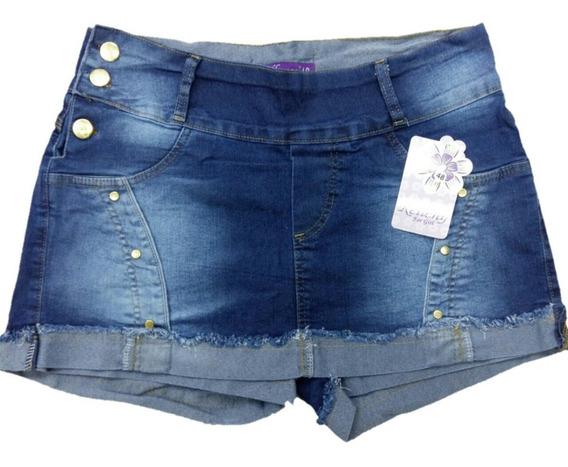 Short Saia Jeans Roupas Femininas Plus Size