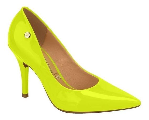 Sapato Scarpin Feminino Vizzano Verniz Neon Amarelo 1184101