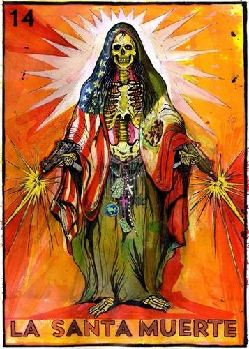 Poster Foto 60cmx84cm Decoração Mexicana La Santa Muerte