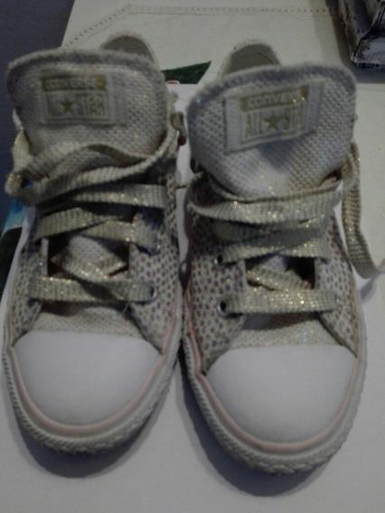 Zapatillas Converse All Star Talle 32 Brillos Impecables