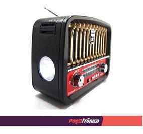 Rádio Retrô Ep-f 95b-pendrive, Usb, Sd, Bluetooth C/lanterna