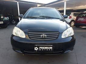 Toyota Corolla Xli 2004 Preta Gasolina
