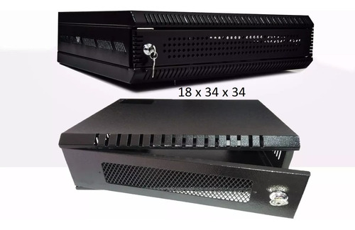 Cctv Gabinete Rack De Pared 1u Para Dvr 16 X 34 X34