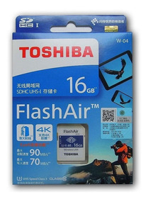 Flashair Toshiba Sdhc Wifi Sd Memória 16gb Classe10 W04 4k