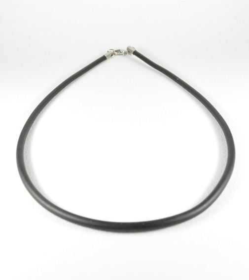 Collar Caucho Hombre Liso 3mmx45cm