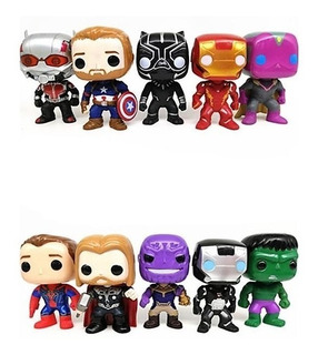 Muñeco Tipo Funkopop Spiderman Iron Man Flash Pantera Hulk