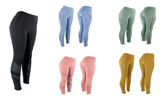 Leggings Deportivo Con Transparencias (variedad De Color)