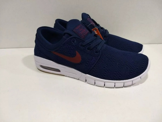 Zapa Nike Sb Janoski Max Azul Y Roja( Semana En Oferta)