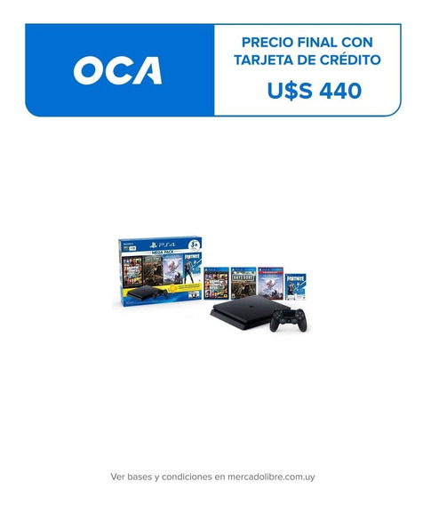 Playstation Ps4 Slim 1 Tb Mega Pack 6 - Nuevo