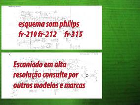 Esquema Philips Fr-210 Fr210 Fr-212 Fr212 Fr-315 Fr315 Em Pd