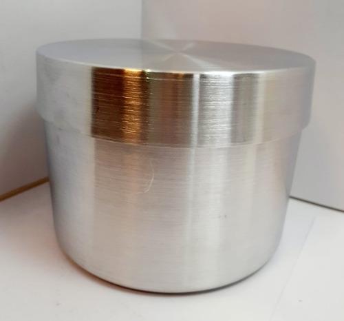 Molde De Quesillo De Aluminio Con Tapa 14 Cm