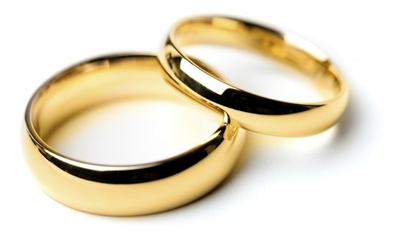 Alianzas Anillos Oro 18k S/costura Casamiento Compromiso 3gr
