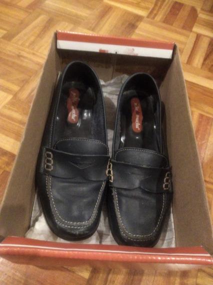 Zapatos Mocasines Julio De Mucha Dama Mujer 24.5 Usado Poco
