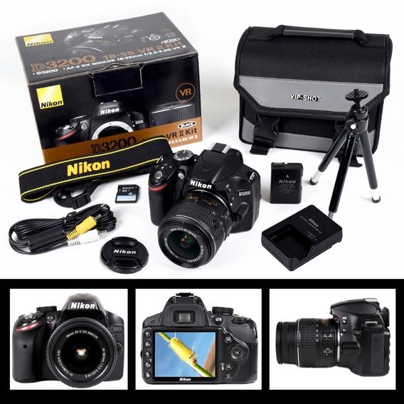 Câmera Nikon D3200 + Lente Af-s 18-55mm Kit Usada Semi Novo