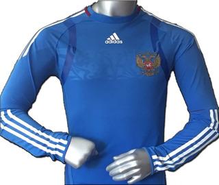 Jersey adidas Rusia Techfit 2010 Manga Larga Player Coderas