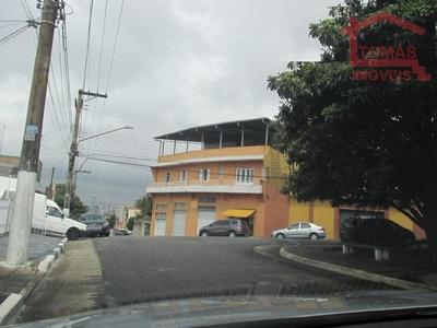 Casa Assobradada Com 3 Salões Comerciais Em Baixo - Ca0764