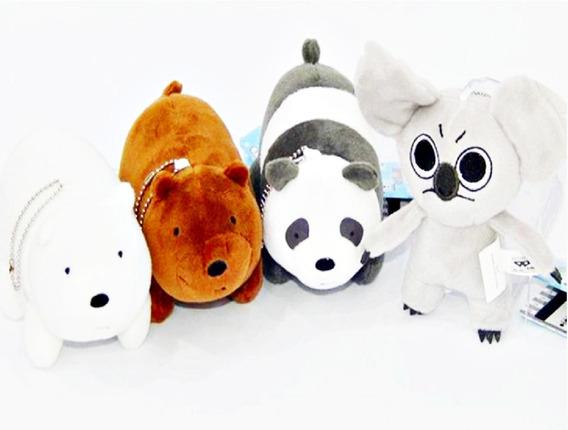 Urso Sem Curso 4 Pelucias 14cm Panda Pardo Polar E Non Non
