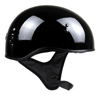 Casco Negro Mate Moto Abierto Rider Torc Certficado Gafa T55