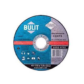 Pack X 10 Disco De Corte Amoladora 115 Mm Bulit P/ Metal