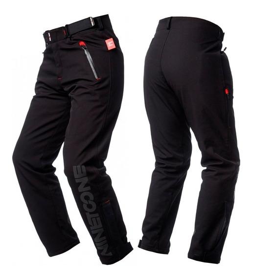 Pantalon Moto Ninetoone By Ls2 Softshell Dynamic Con Protecciones Para Rodillas