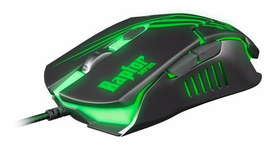 Mouse Gamer Óptico Usb Raptor Series Fortrek Om801 6 Botões