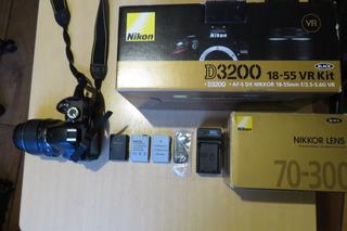 Camara Nikon D3200 + Lente Nikon 70 300 Como Nuevo Oportunid