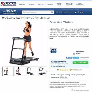 Esteira Ergométrica Kikos E800 Luxe - Com Defeito
