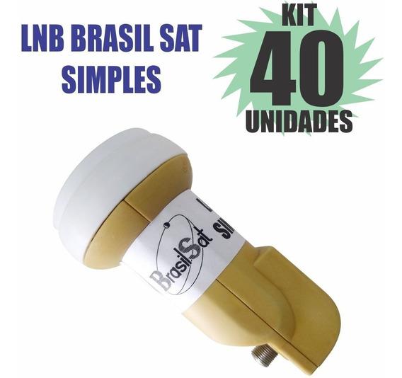 Kit 40 Peças Lnbf Ku Simples Universal Lnb Semi Novo