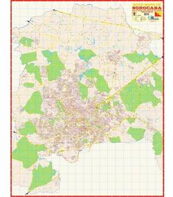 Mapa Da Cidade De Sorocaba 120 X 90 Cm Dobrado