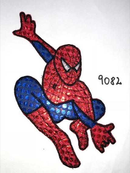 Aplique De Tela De Lentejuelas Art. 9082 Murgas Hombre Araña