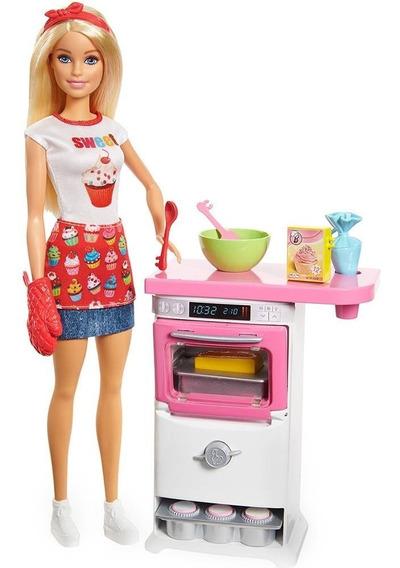 Boneca Barbie Cozinhando E Criando Chef De Bolinhos - Mattel