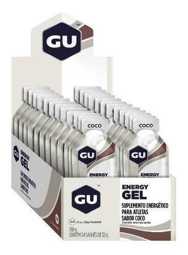 Gu Energy Gel Carboidrato Côco Caixa C/ 24 Saches