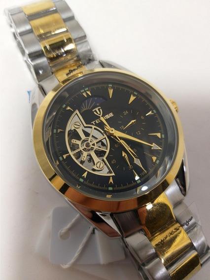 Relógio Masculino Automático Aço Inoxidável Oferta E.111