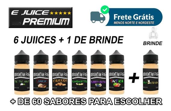 X6+1 E Juice + Brinde E Liquid 30ml Essencia Vaper Premium