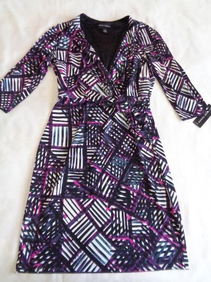 Vestido Donna Morgan Talla 6 Petite Usa, Strech,forro, Nuevo Con Etiqueta,medidas En Descripción