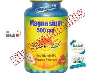 Magnésio 500mg Di Malato Citrato Oxido + B6 100cap Importado