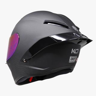 Casco Kov Kc1 Deportivo Tipo Fibra Carbono Certificado