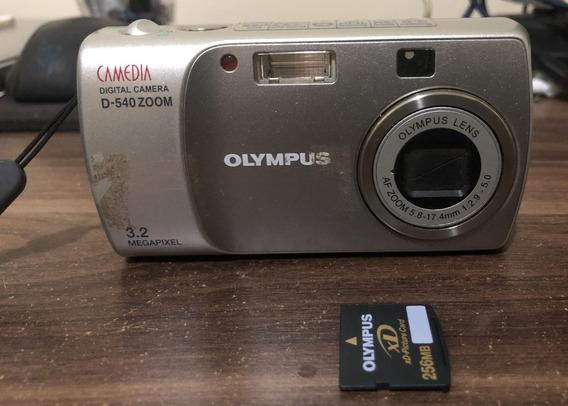 Câmera Digital Olympus D-540 Com Cartão De Memória