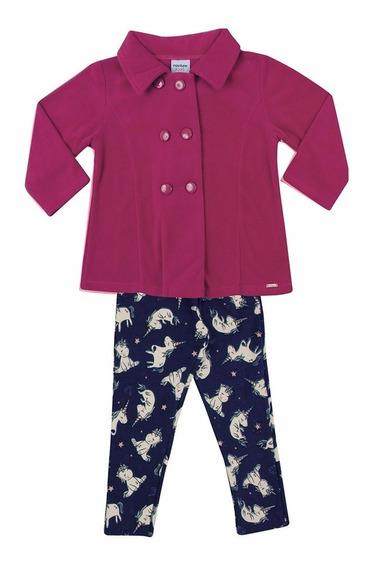 Conjunto Infantil Feminino Casaco Soft Rovitex 01 A 03 Anos