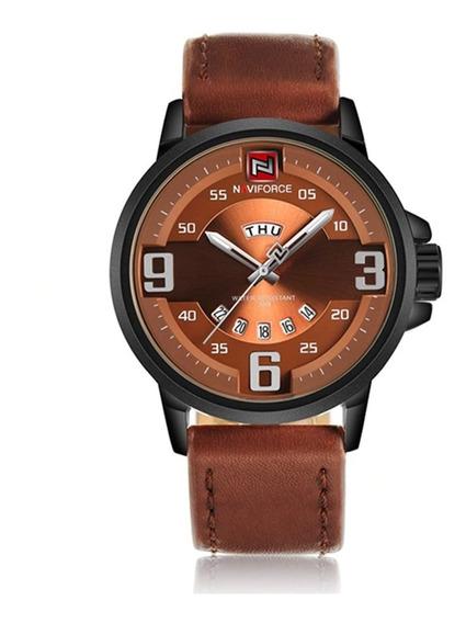 Relógio Luxo Masculino Couro 9086 A Prova D