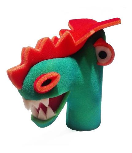 Títeres Dino Manopla De Goma Espuma Colores En Fuga Kids