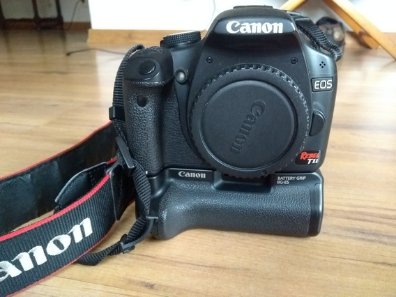 Camera Canon T1i + Base Com Duas Baterias